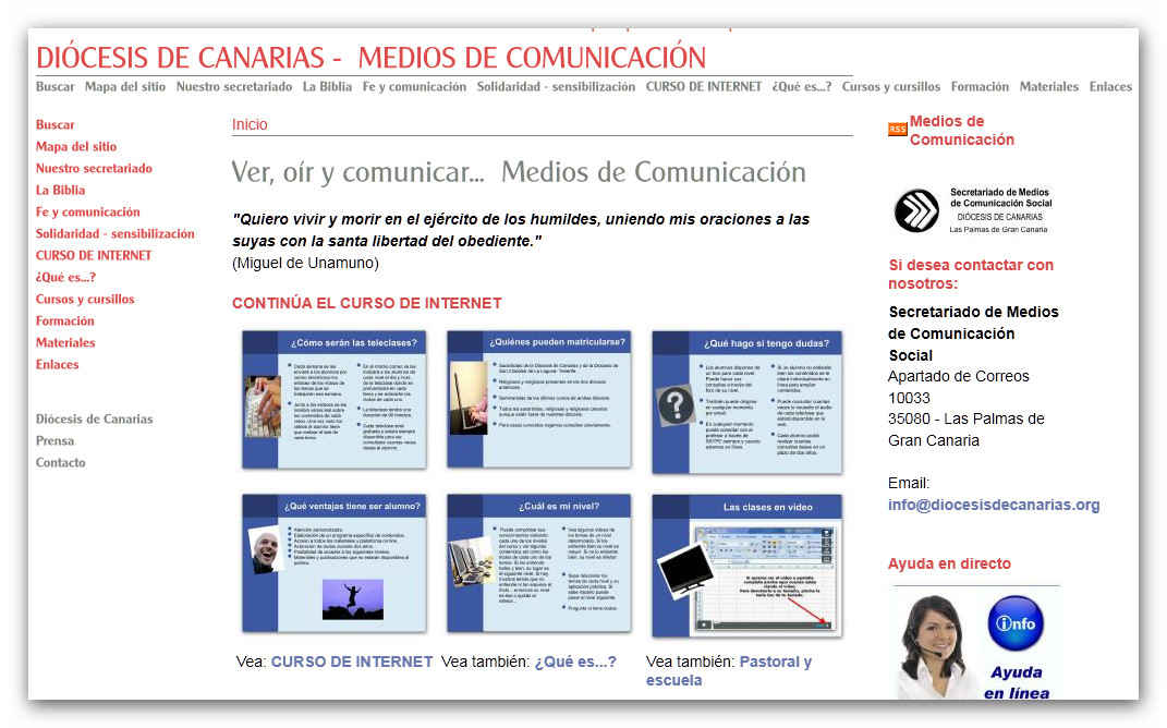 Nueva web del Secretariado Diocesano de Medios de Comunicación Social