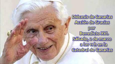 Eucaristía de Acción de Gracias por Benedicto XVI