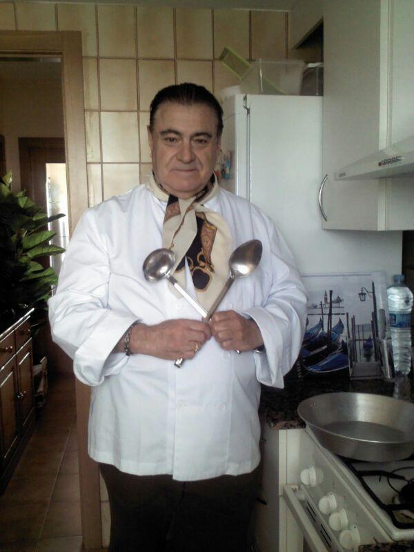 Ensalada de berros con anchoas, 'En la cocina'