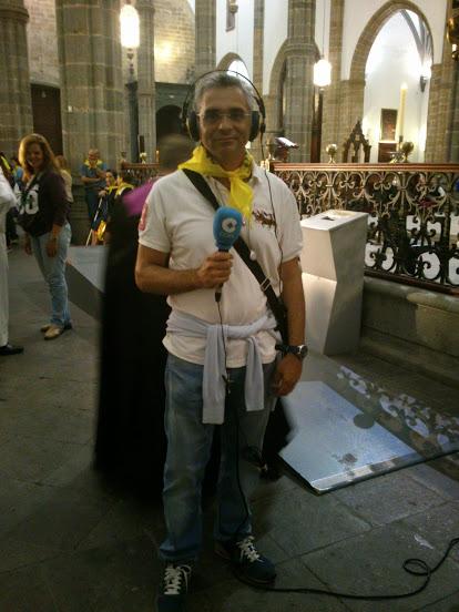 Radio Tamaraceite en simultaneo con la Cadena Cope en la subida de la Virgen del Pino