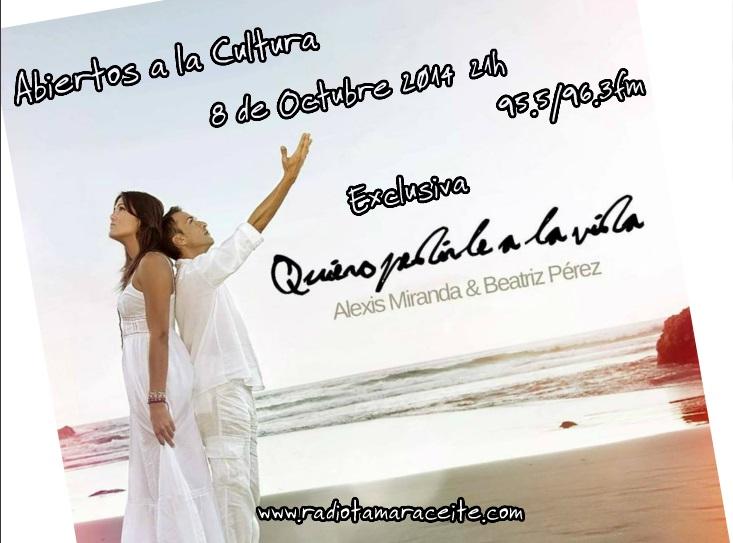 Alexis Miranda en «Abiertos a la cultura»