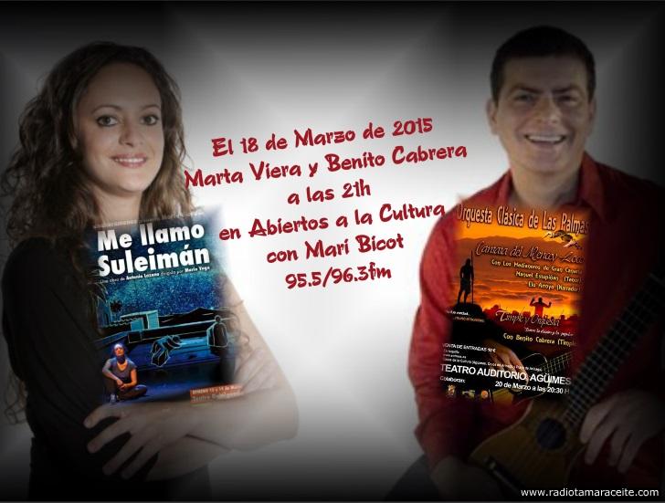 'Abiertos a la cultura' entrevista a Marta Viera y Benito Cabrera