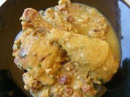 Pollo a la pepitoria, 'En la cocina'