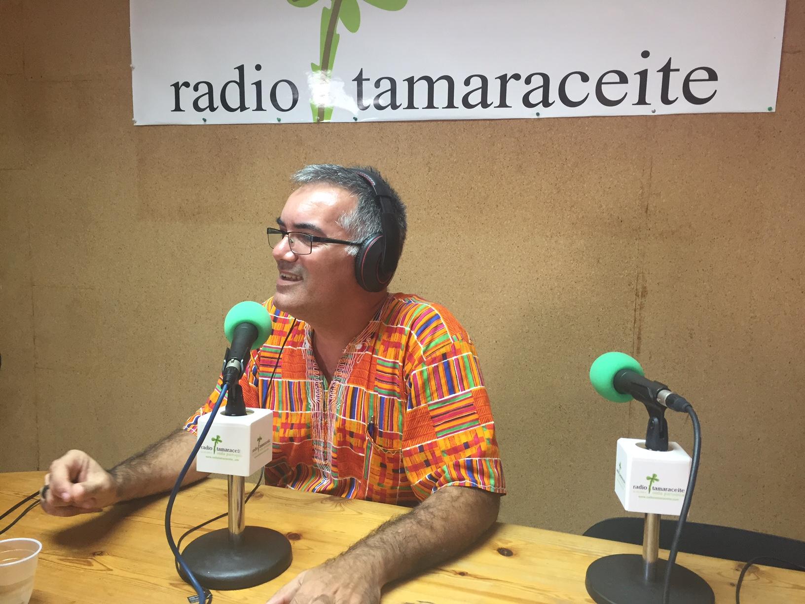 El delegado diocesano de Misiones, Manolín Ramirez, visita 'El andén'