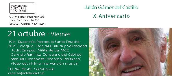 'El andén' recuerda a Julián Gómez del Castillo