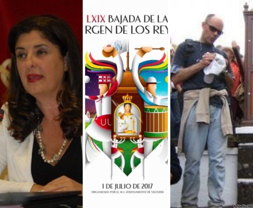 La presidenta del Cabildo herreño y el Vicario de la diócesis Nivariense, en 'El andén'